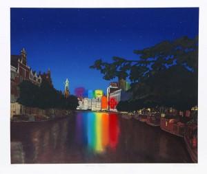 Antonio Peticov Amsterdam Rainbow