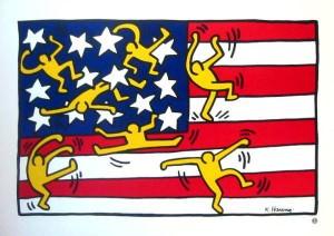 Haring - Bandera americana