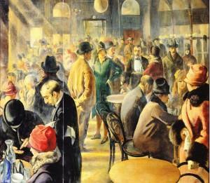baccio maria bacci, domenica al caffè, 1927