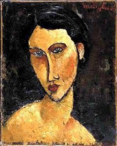 Amedeo Modigliani, Donna con gli occhi blu