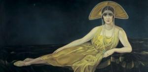 Ritratto di Wally Toscanini 1925, Alberto Martini, Pastello 131 X 204 coll. privata