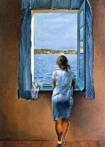 salvador dali giovane donna alla finestra