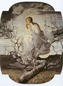 L'angelo della vita 1895 Gioanni Segantini divisionismo