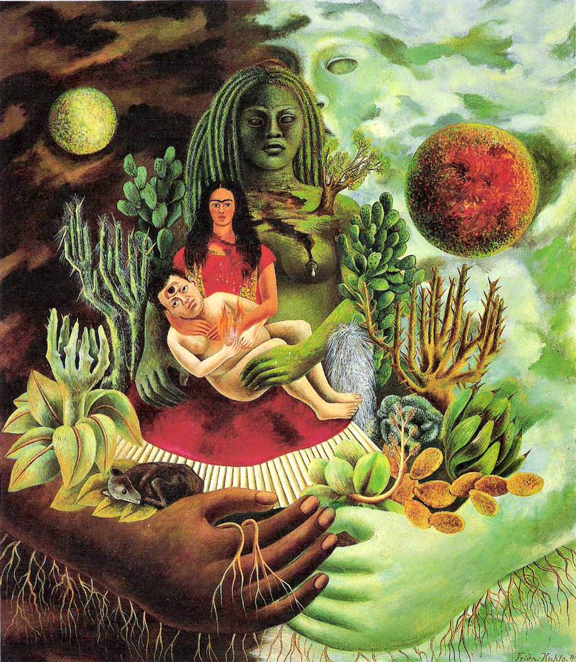 Frida Kahlo amoroso abbraccio universo