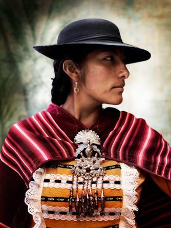 Mestiza women's traditional dress. Province of Paruro, Cusco, Peru, 2012   © Mario Testino
