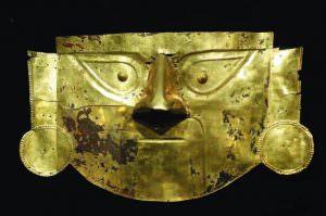 maschera funeraria inca