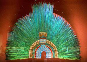 montezuma copricapo azteco
