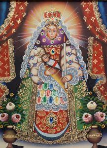 Virgen de la Candelaria de las plumas.