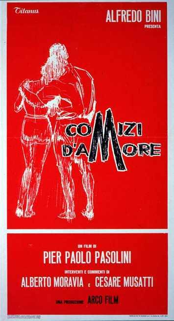 regista comizi d amore pasolini 1965 sexualidad