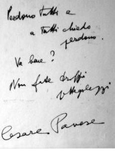 Cesare Pavese suicidio pierina cctm caracas nazzaro