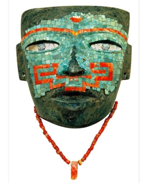 americhe precolombiane turchesi ossidiana maschera funeraria azteca cctm caracas