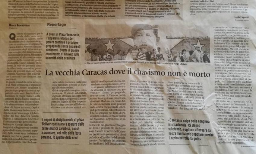 marco benedettelli avvenire chavismo caracas cctm nazzaro appunti venezuela
