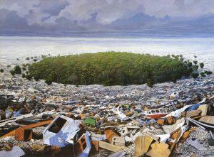 Tomas Sanchez Espejismo 1991 cctm caracas oleo acrilico pintor cuba