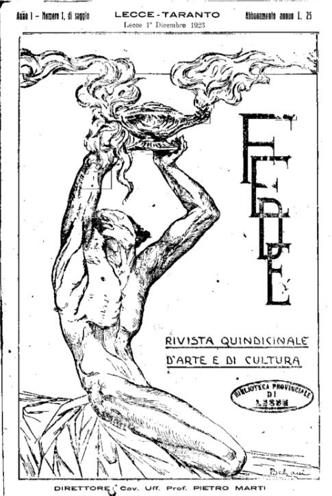 fede anno 1 nr 1 1923 pietro marti lecce salento cctm caracas cultura