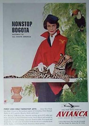 avianca poster colombia 1962 cctm caracas