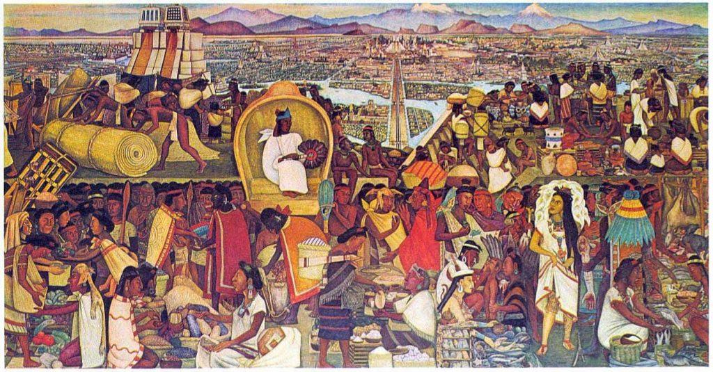 Diego Rivera Mercado de Tlatelolco carlos fuentes transparente ombelico méxico messico scrittori latino america cctm caracas