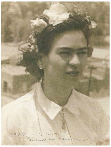 Frida Kahlo de 19 años, cuando se caso con Diego Rivera, 1929 mèxico messico latino america cctm caracas
