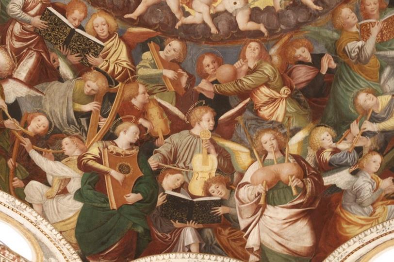 gaudenzio ferrari coro angeli rinascimento pittura italia latino america saronno cctm caracas
