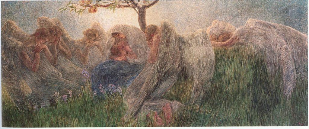 gaetano previati maternità mamma divisionismo pittura angeli italia cctm caracas latino america