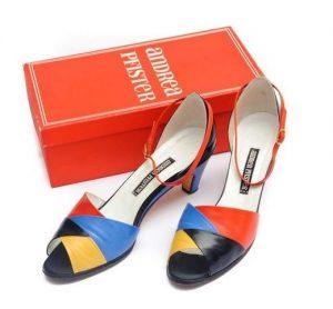 andrea pfister omaggio a mondrian 1980 scarpe moda made in italy cctm caracas latino america poesia