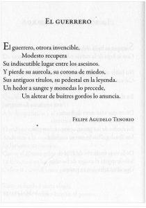 felipe agudelo tenorio colombia guerriero assassino poesia latino america cctm caracas nazzaro