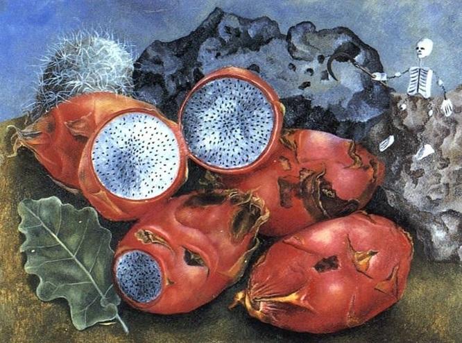 frida kahlo pitahayas pittura messico terribile diego rivera natura morta latino america cctm poesia arte