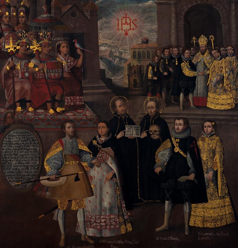 barocco andino Union de la descendencia imperial incaica con la Casa reducida barocco andino cctm latino america poesia arte cultura bellezza