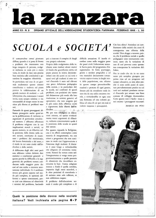 la zanzara liceo parini 14 febbraio 1966 cosa pensano le ragazze cctm arte amore poesia cultura latino america