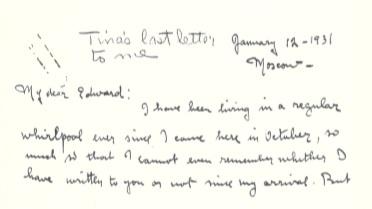 Modotti a Edward Weston incipit lettera cctm arte fotografia cultura bellezza amore poesia latino america