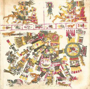 codice Borgia pag 17 americhe precolombiane cctm arte poesia cultura bellezza latino america
