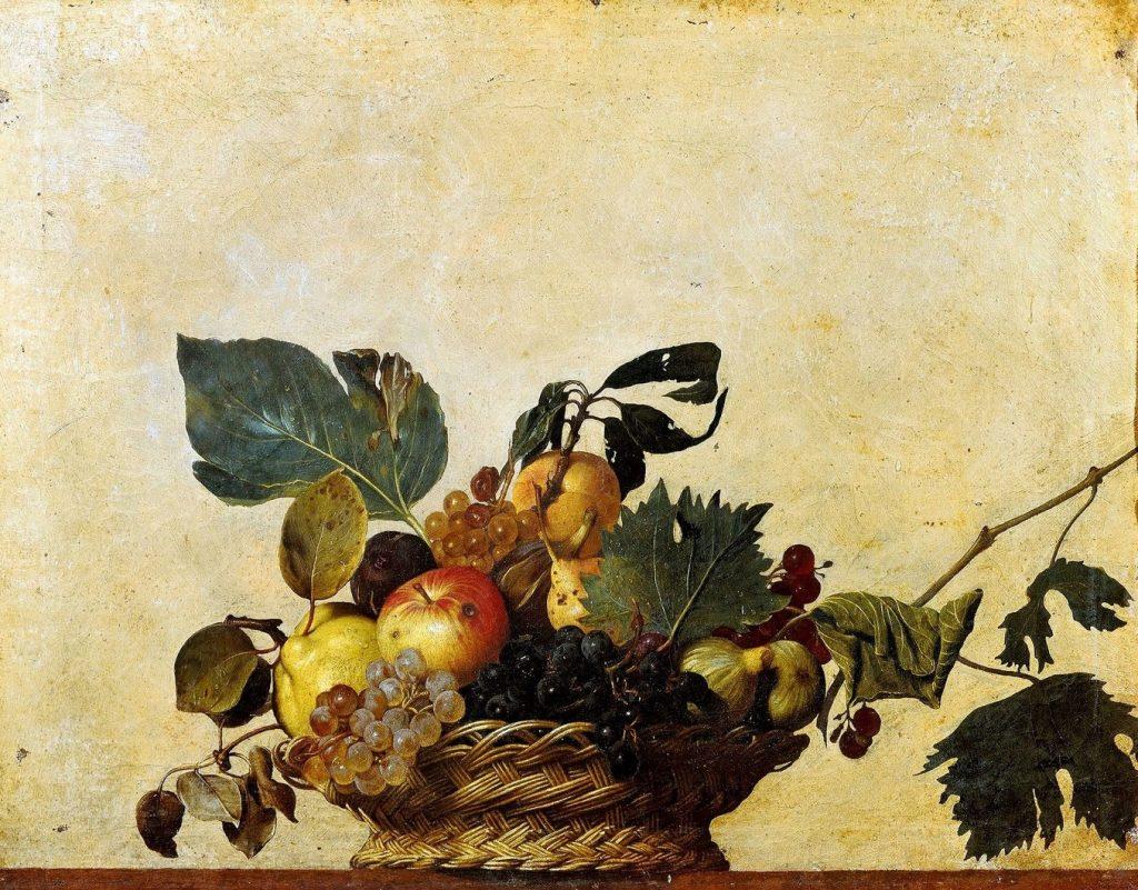 Caravaggio Canestra di Frutta Michelangelo Merisi cctm arte cultura amore poesia bellezza italia latino america