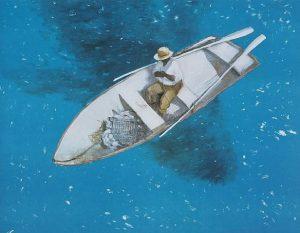 Julio Larraz The Big Fish 2000 cuba pittura italia latino america cctm arte amore cultura bellezza italia latino america mare blu