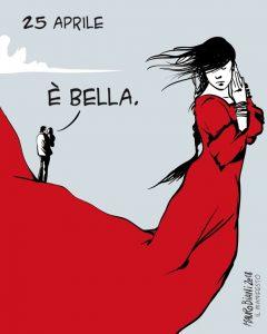 mauro biani 25 aprile liberazione il manifesto cctm arte amore bellezza cultura poesia italia latino america a noi piace leggere miglior sito poesia miglior sito letterario