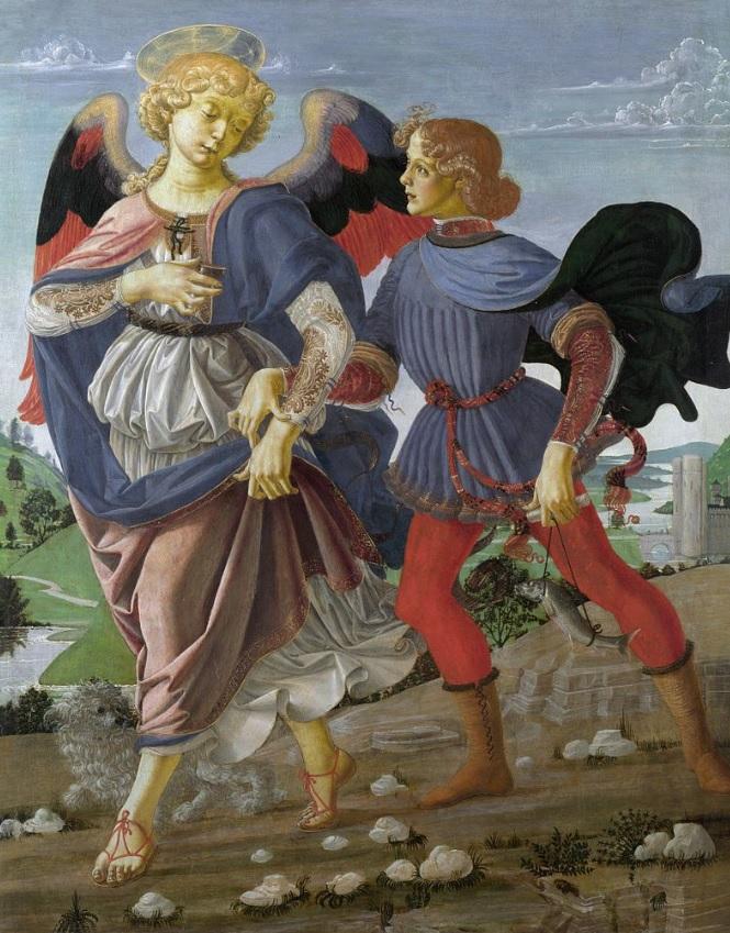 Andrea del Verrocchio Tobiolo e l'angelo cctm arte italia latino america
