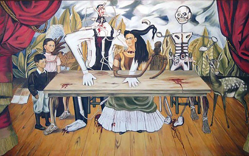 frida kahlo mesa herida Wounded Table cctm donne arte messico a noi piace leggere