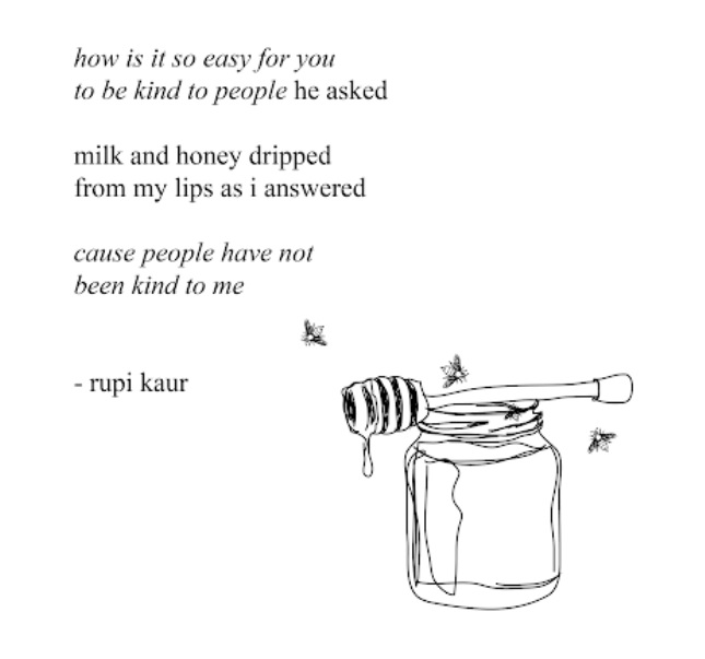 rupi kaur en latte e miele milk and honey cctm amore donne