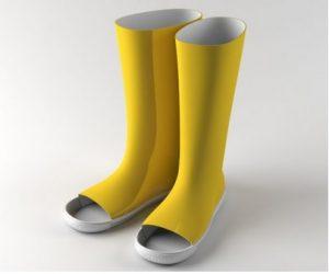 the uncomfortable rain boots Katerina Kamprani design cctm a noi piace leggere