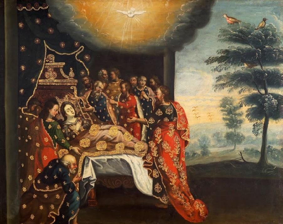 Dormición de la Virgen barocco andino cctm pittura a noi piace leggere cuzco