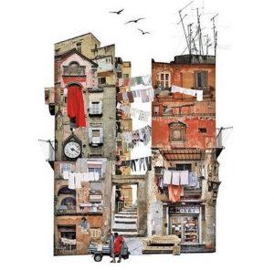 francesca sacco collage italia cctm arte a noi piace leggere napoli