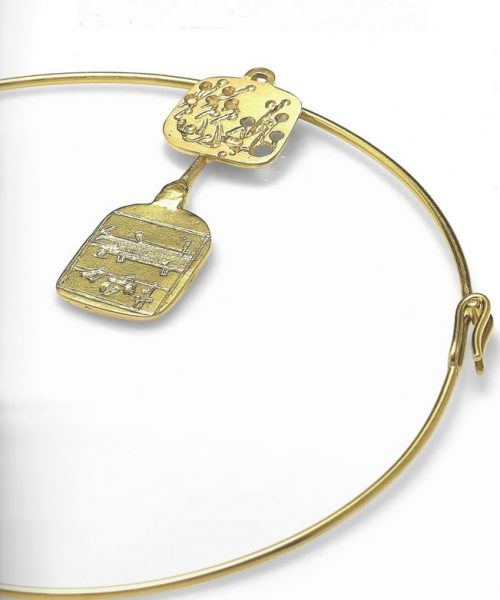 mario giansone sculture da indossare cctm oro arte