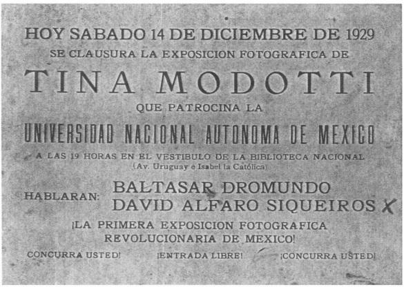 tina modotti unam Prima Mostra di Fotografia Rivoluzionaria cctm fotografia
