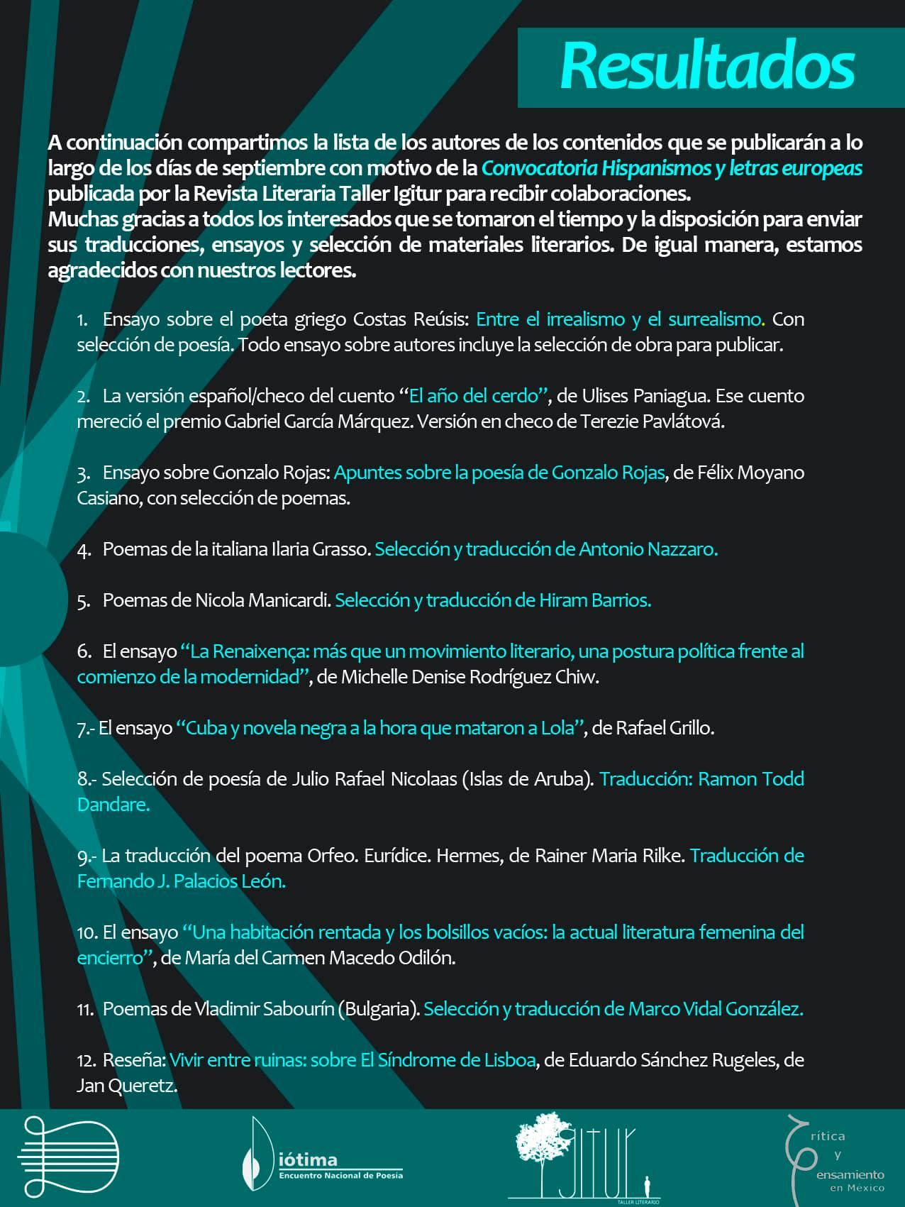 ilaria grasso Revista Literaria Taller poesia cctm