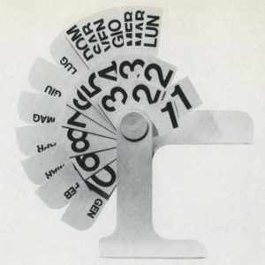 Enzo Mari calendario perpetuo cctm design made in italy cctm a noi piace leggere