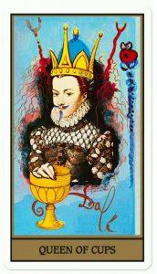 I tarocchi di Salvador Dalì -Regina di coppe cctm arte cultura