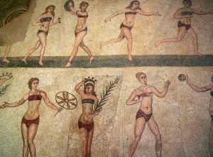 mosaici romana del Casale bikini cctm a noi piace leggere