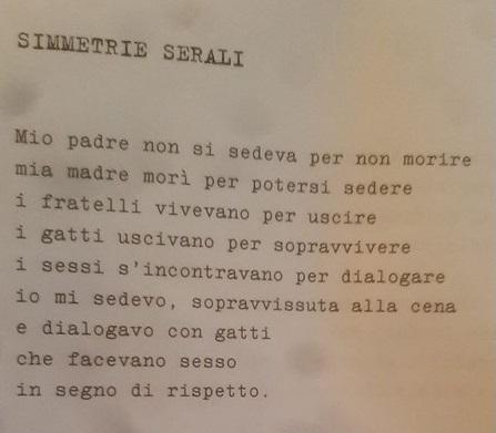 Gabriella Montanari poesia italia cctm a noi piace leggere gatti