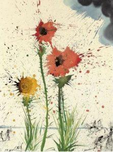 Salvador Dalí Spring Explosive, 1965 cctm arte a noi piace leggere primavera