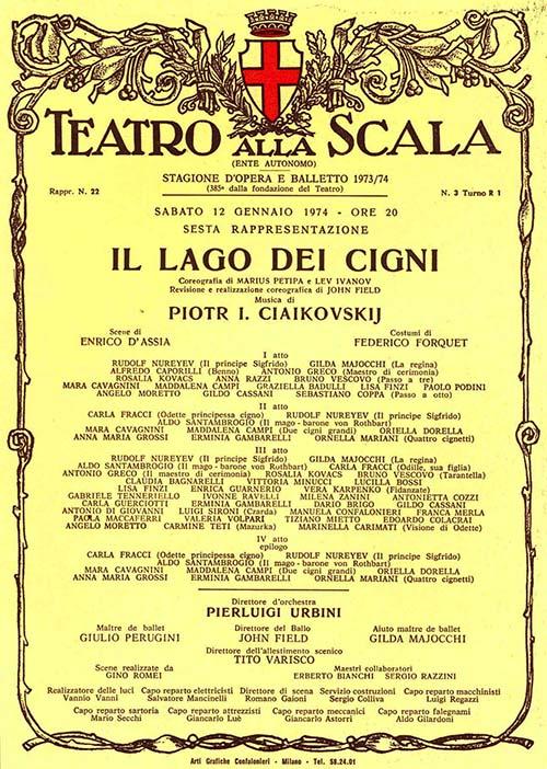 carla fracci italia danza teatro alla scala cctm Rudolf Nureyev