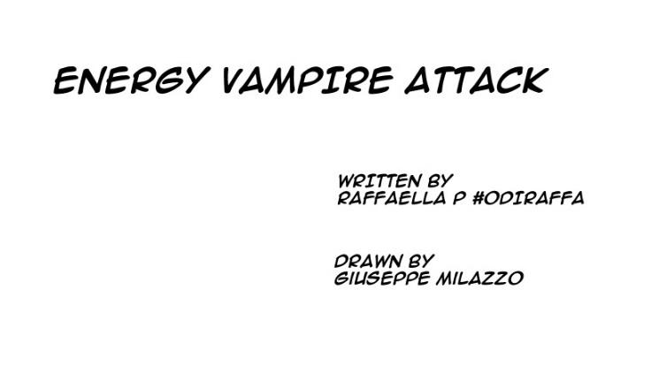 Raffaella P Odiraffa Energy Vampire Attack cctm a noi piace leggere