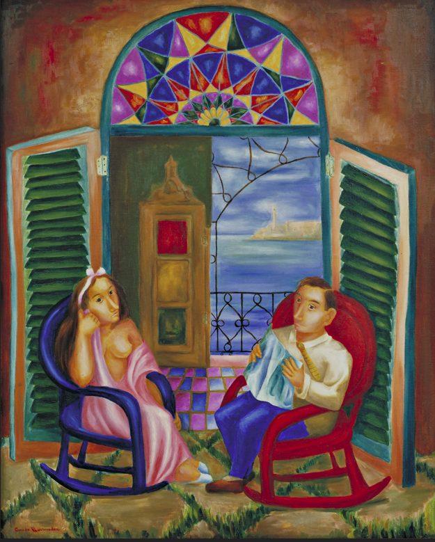 Cundo Bermudez el balcon pittura cuba cctm a noi piace leggere moma